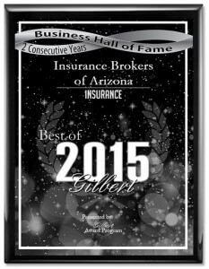 2015 Gilbert Insurance Agency Award